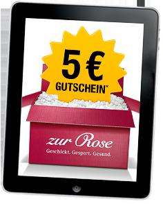 Zur Rose Gutschein 5 Euro Newsletter