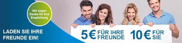 10 Euro Sanicare Gutschein für Freunde Werbung