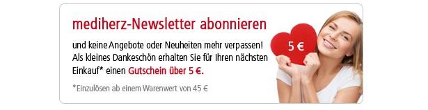 mediherz gutschein 5 euro newsletter