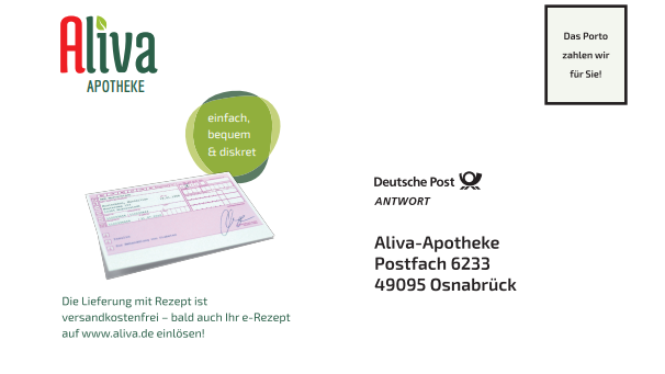 Medikamente bei Aliva bestellen