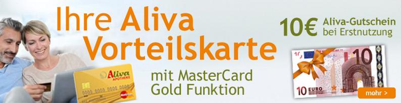 Aliva MasterCard Gold Vorteilskarte