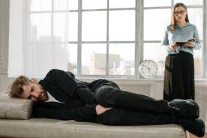 therapie gespraech mann frau deprexis
