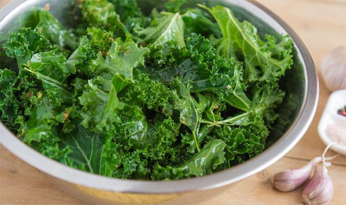 Grünkohl Lebensmittel mit vielen Vitaminen