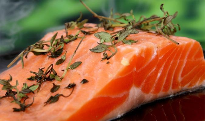 Lachs Lebensmittel mit vielen Vitaminen