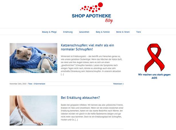 Shop Apotheke Blog