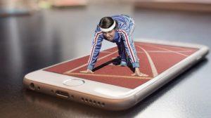medizinische Apps auf Rezept Sport Frau Rennen