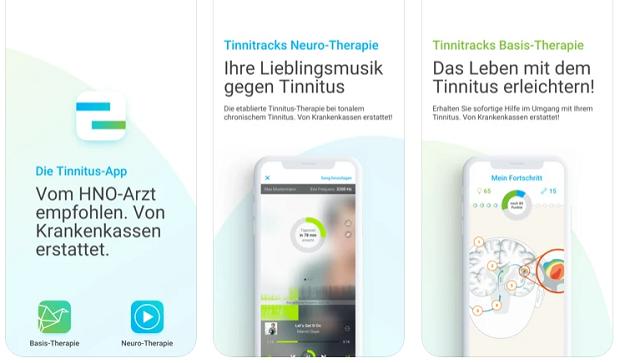 medizinische app auf rezept tinitus