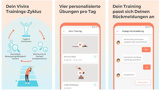 gesundheits app auf rezept-vivira bewegungsuebungen